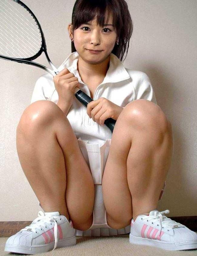 【ヌード画像】テニスウェア美少女に興奮wアンダースコートがいやらしいw(31枚) 03