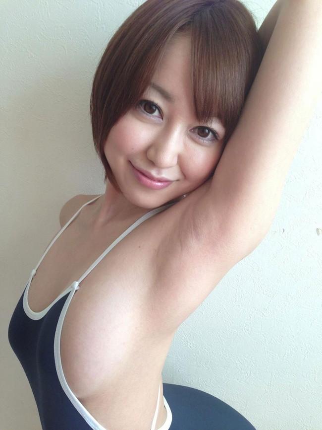 【ヌード画像】フル勃起確実w下着姿や水着姿で腋を見せる女の子w(32枚) 08