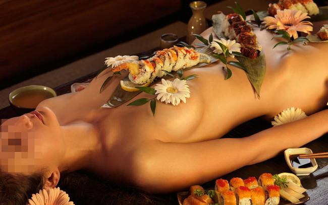 【ヌード画像】バブル時代の置き土産、女体盛りヌード画像がアホすぎてエロすぎる!(50枚) 44
