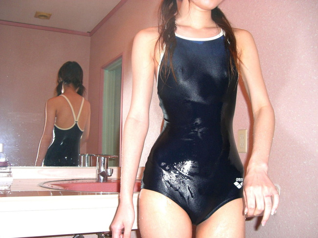 【ヌード画像】青春を思い出す競泳水着とスクール水着の画像(30枚) 05