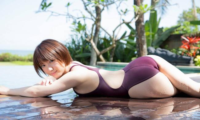 【ヌード画像】青春を思い出す競泳水着とスクール水着の画像(30枚) 16