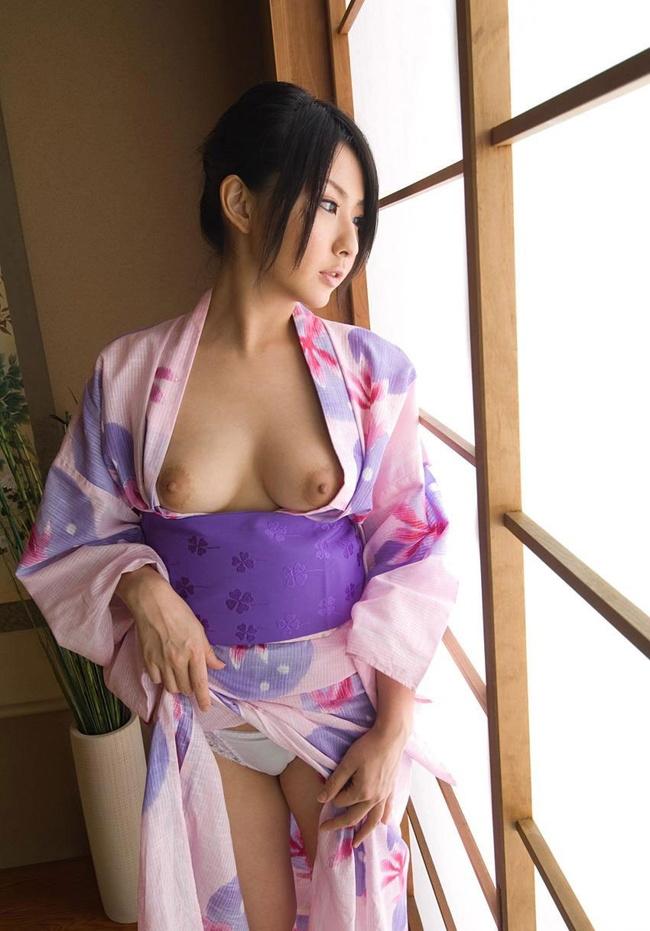 【ヌード画像】乱れる和服や浴衣ほど日本男児を刺激するものはない(30枚) 10