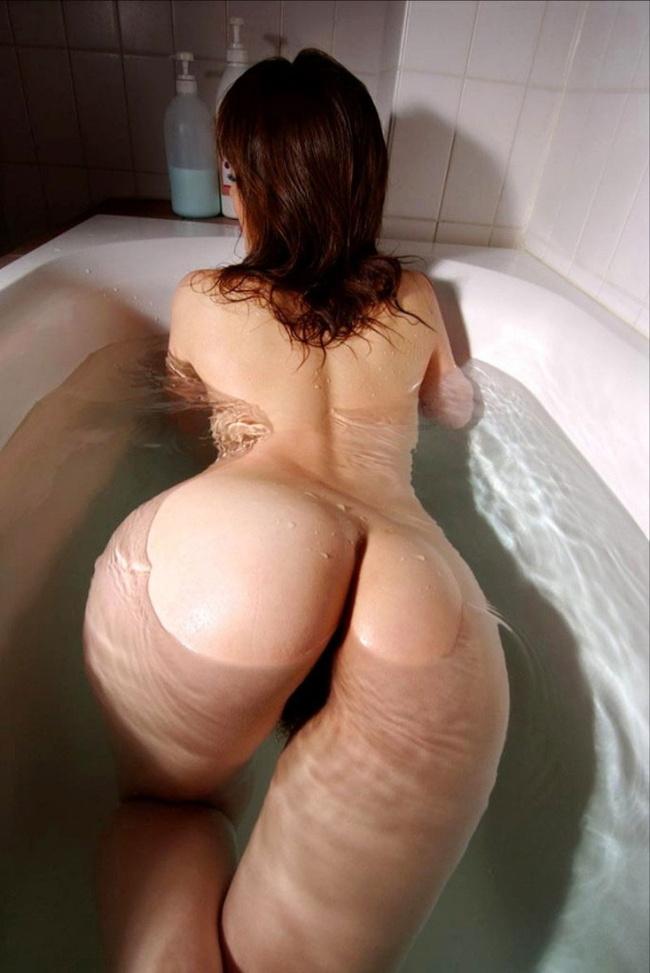 【ヌード画像】風呂で四つん這いになった例の美尻ポーズ(30枚) 09